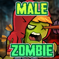 Male Zombie 2D Game Character Sprites 04