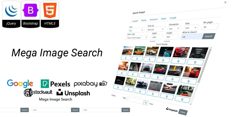 Mega Image Search