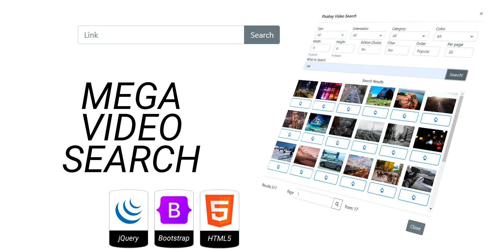 Mega Video Search