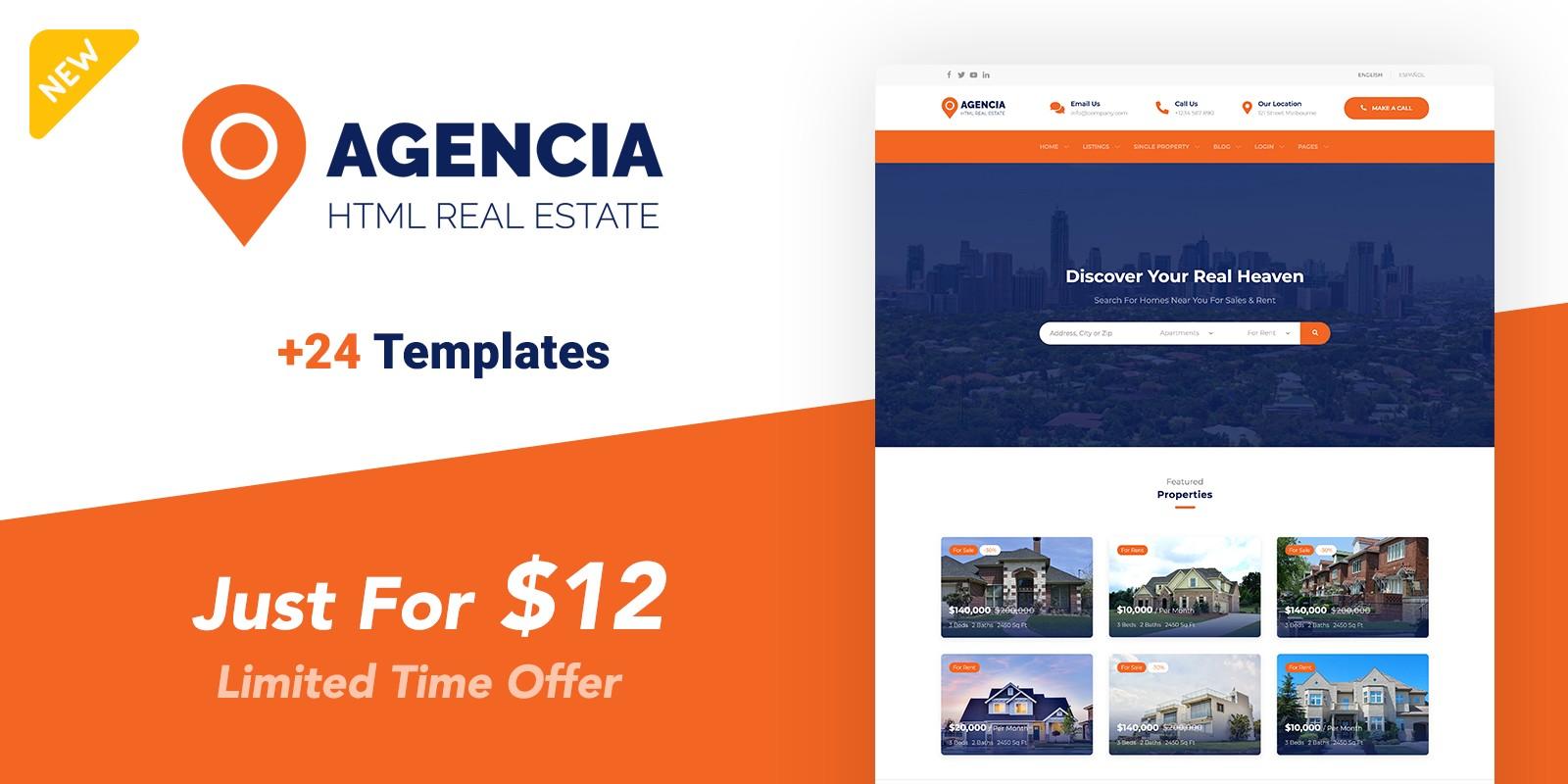 Agencia - Real Estate Template