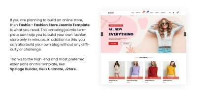 Fashio - Fashion Store Joomla Template