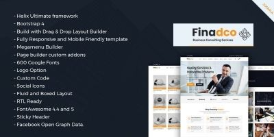 Finadco - Business Consulting Joomla Template