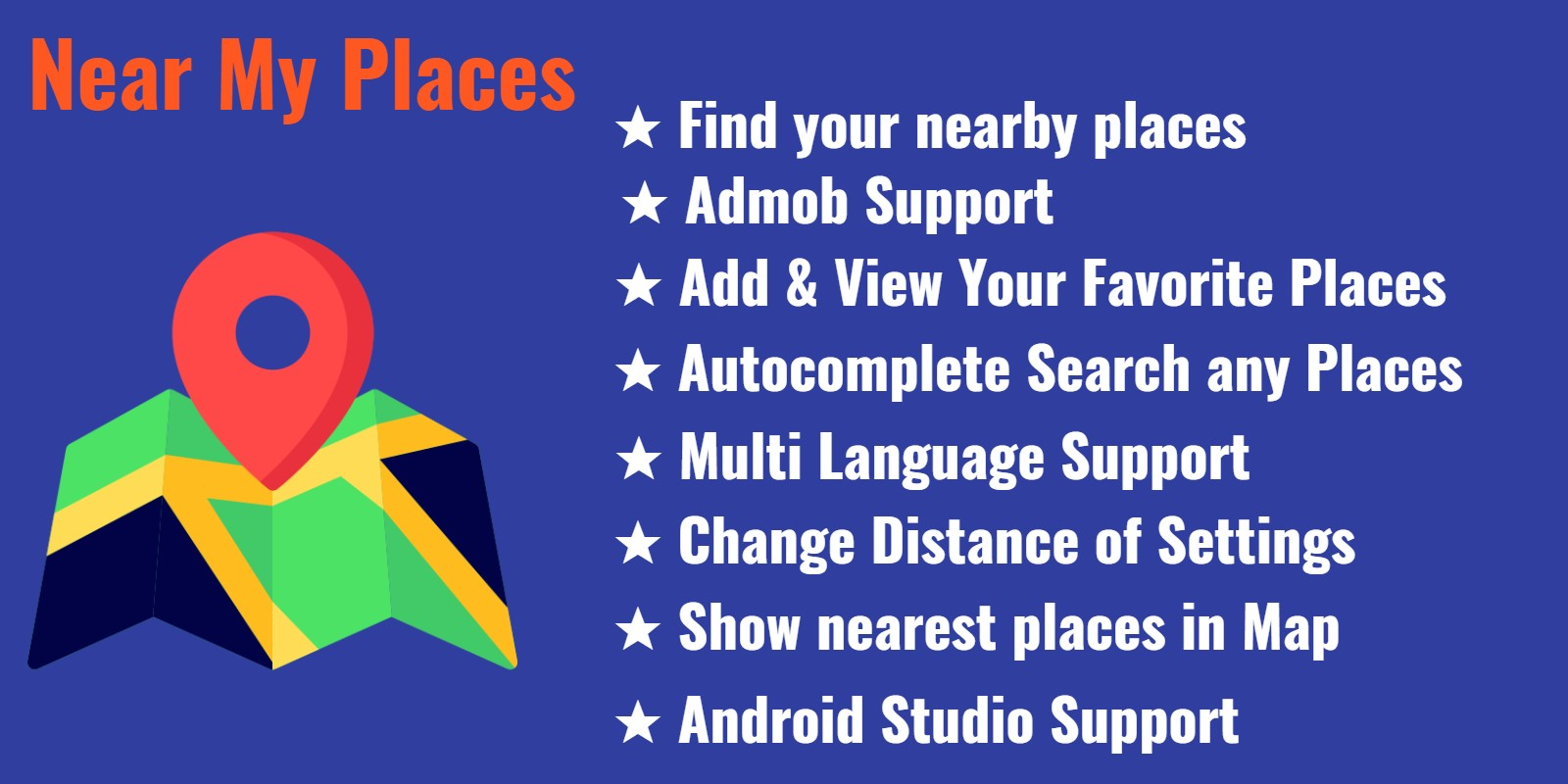 Near My Places - Android App with Admob
