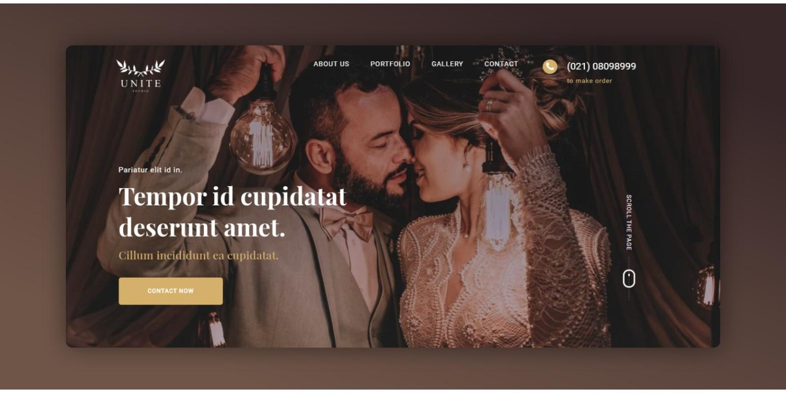 Unite - Multipurpose One Page HTML Template