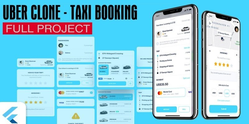 Uber Clone – Taxi App With Flutter  - Customer A