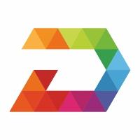 Digital D Letter Colorful Logo