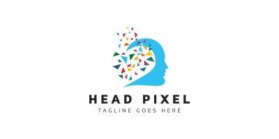 Head Pixel Logo