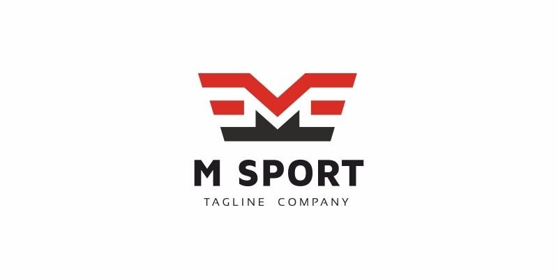 M Letter Wings Logo