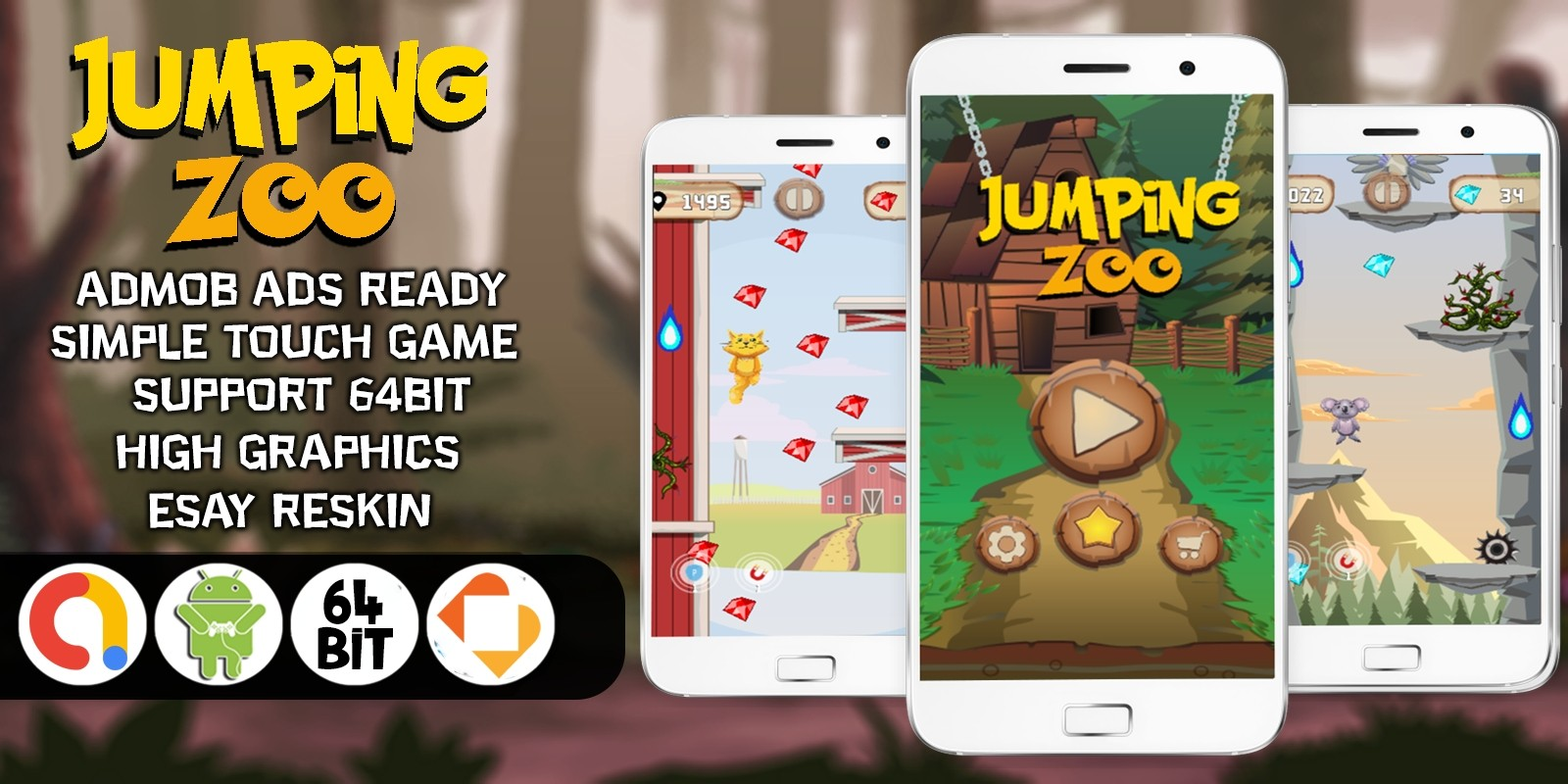 Jumping Zoo - Buildbox Template