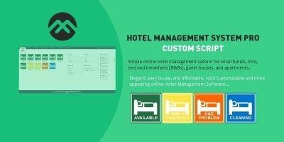 Hotel Management System Pro Custom Script