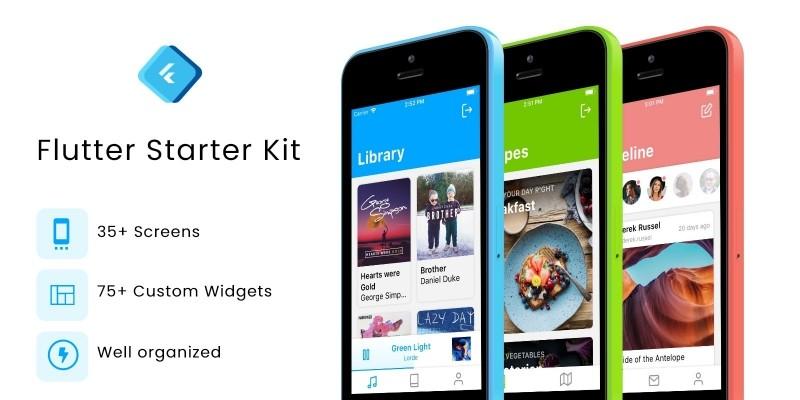 Flutter Starter Kit - UI Kit
