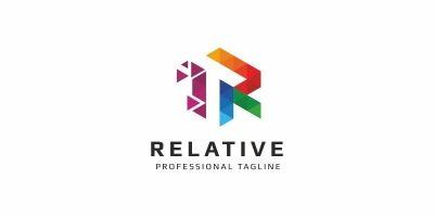 R Letter Colorful Pixel Logo