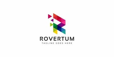 R Colorful Pixel Logo