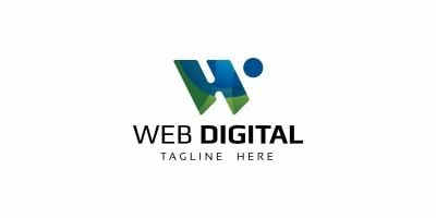 Web Digital W Letter Logo