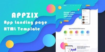 Appziz - App Landing Page HTML Template
