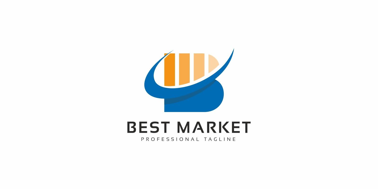 Best Market B Letter Logo