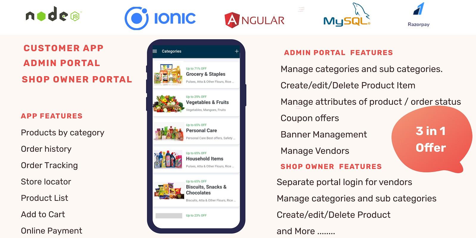 MyStore - Ionic Multi Vendor Store Source Code