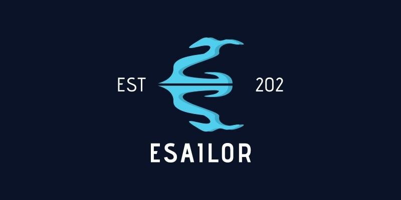 Letter E Anchor Logo
