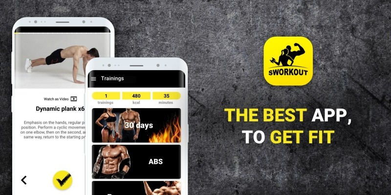 Sworkout - Android And iOS App Source Code