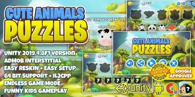 Cute Animal Puzzle Kids - Unity3D With Admob Ads