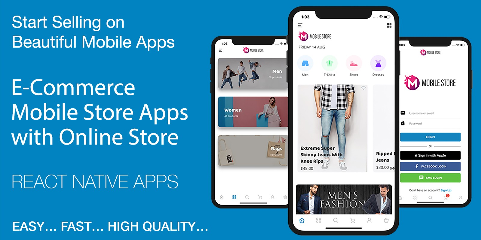 Mobile Store WooCommerce React Template