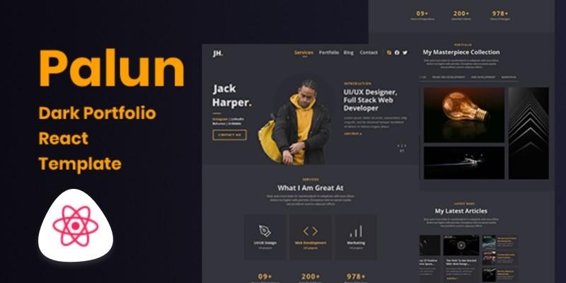 Palun - Personal Portfolio React JS Template