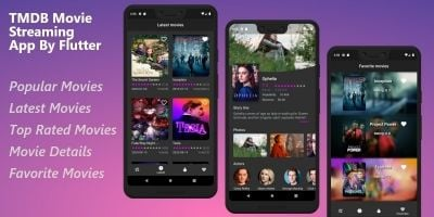 TMDB Movie Streaming App -  Complete Flutter Templ