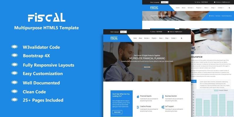 Fiscal Multipurpose Responsive HTML5 Template