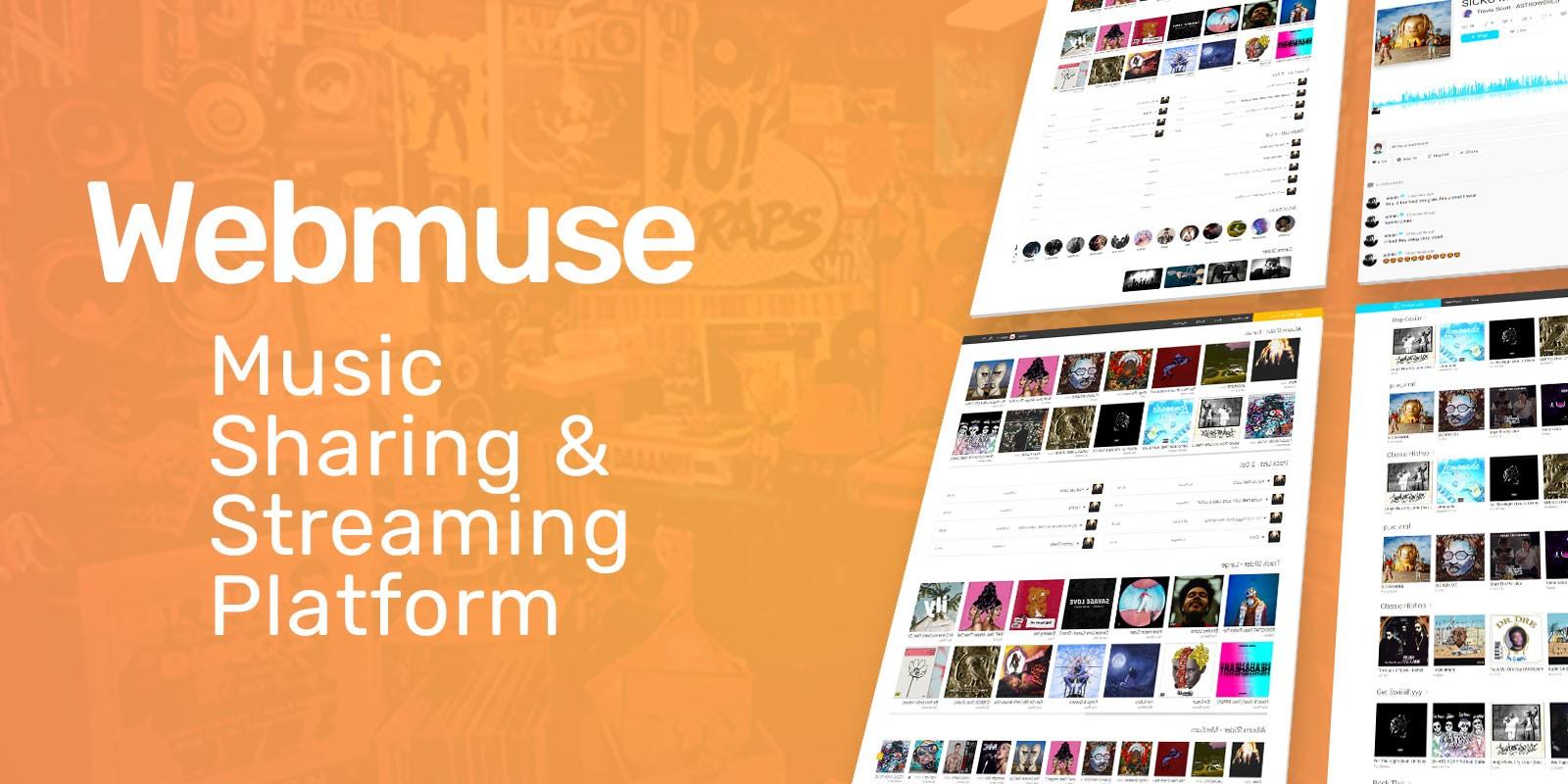 Webmuse - Music Sharing Platform