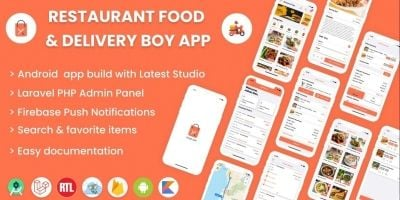 Single Restaurant Android Food Ordering App