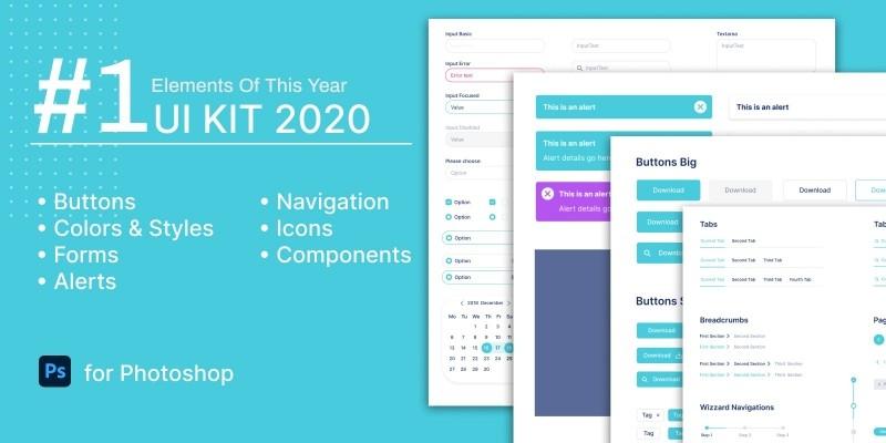 UI KIT 2020 For PhotoShop