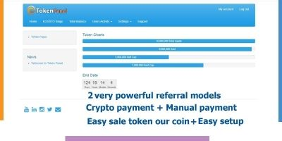 TokenPanel ICO STO Token And erc20 Sale Management