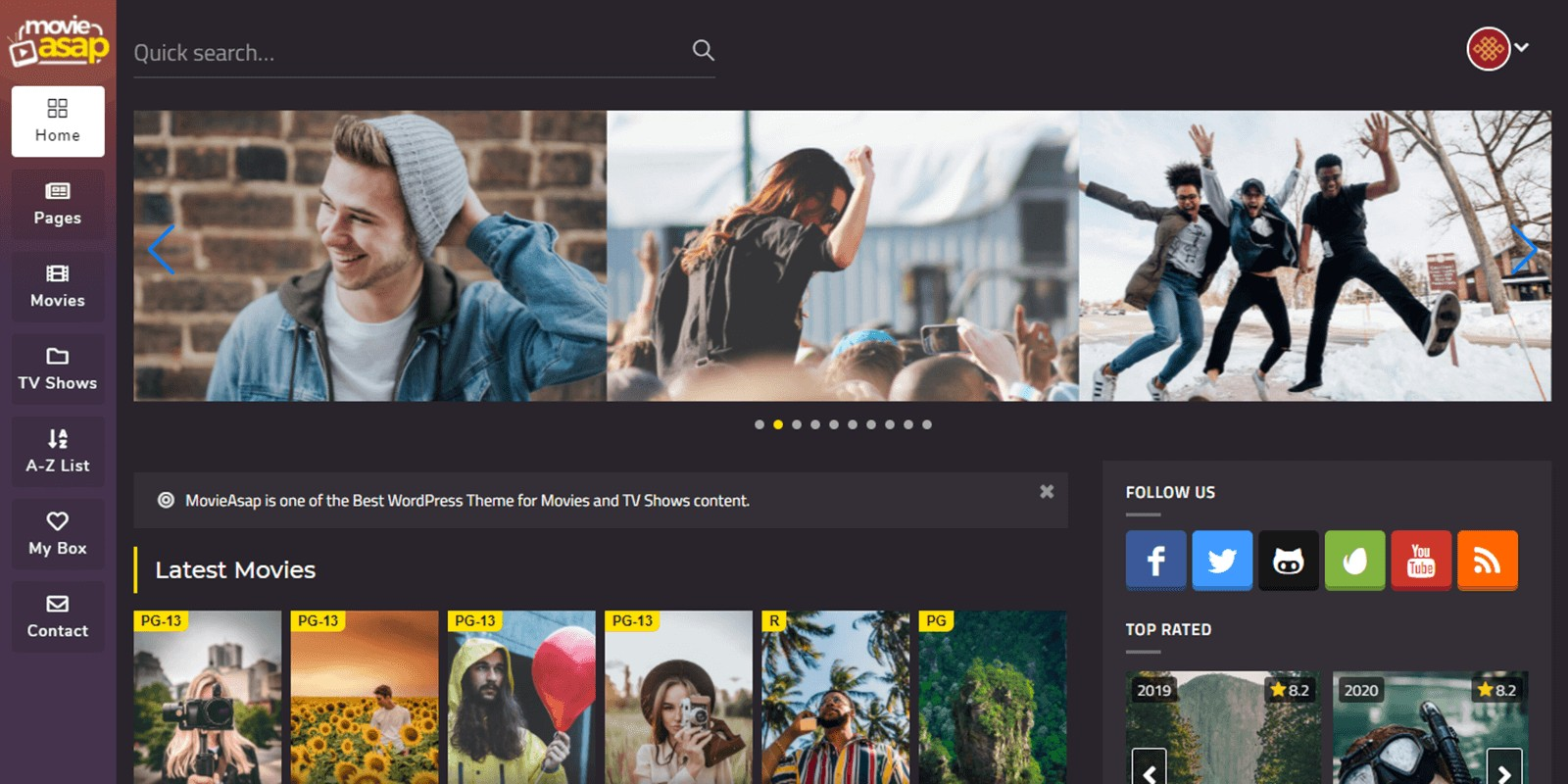 MovieAsap - WordPress Theme for Movies And TV Show