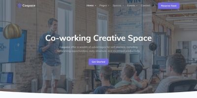 Cospace - Rental Space Landing Template
