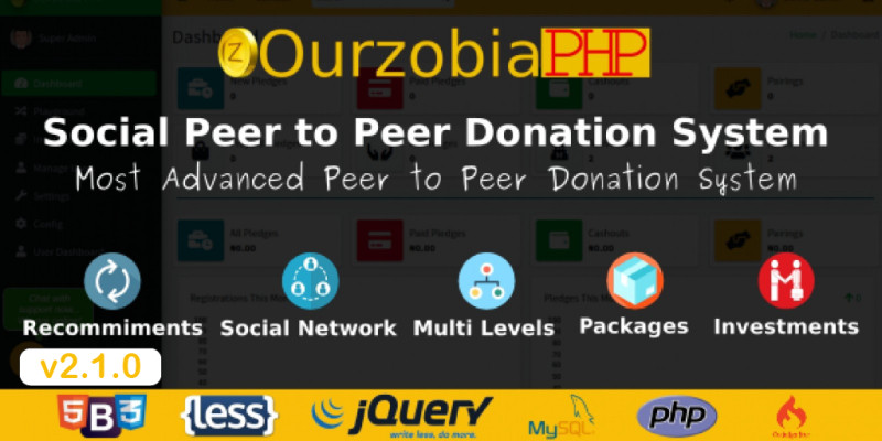 Ourzobia PHP - Social Peer to Peer Donation System