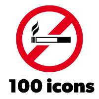 100 Forbidden Signs - Icons