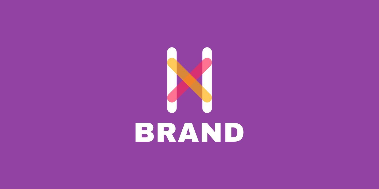 Letter X H flat Logo