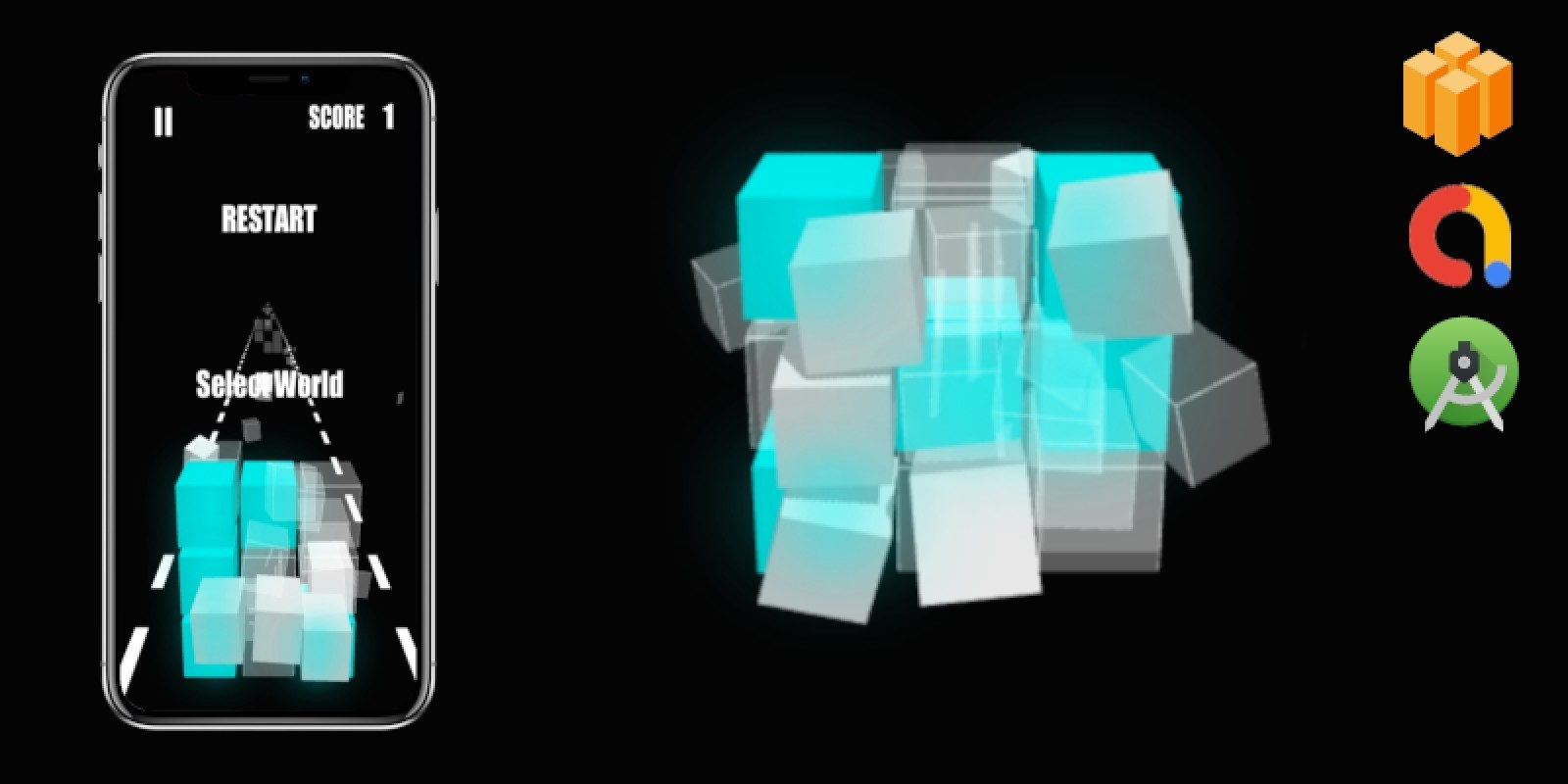 Fit The Cube Buildbox Game