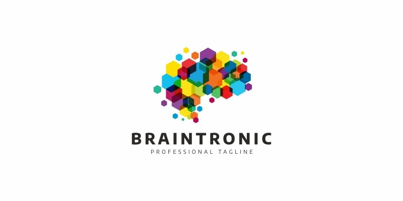Brain Pixel Box Logo