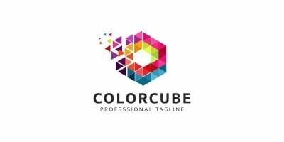 Hexagon Pixel Colorful Logo