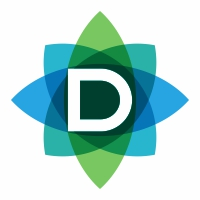 D Letter Leaves Logo