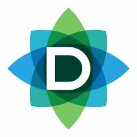 D Letter Leaves Logo