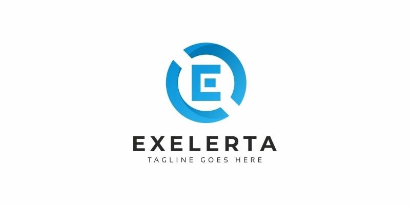 Exelerta E Letter Logo