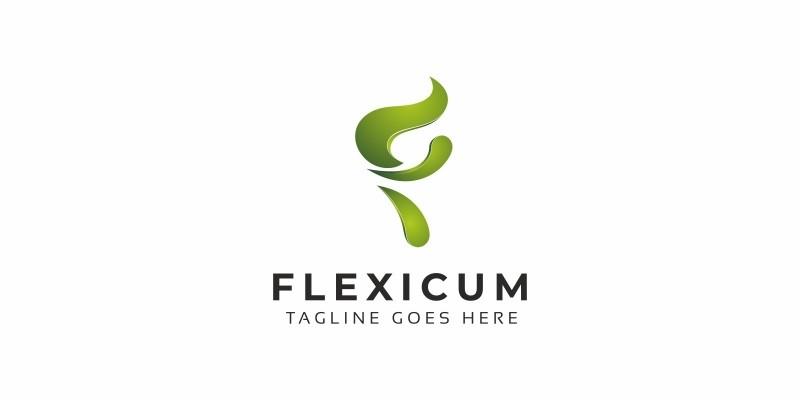 F Letter Eco Logo