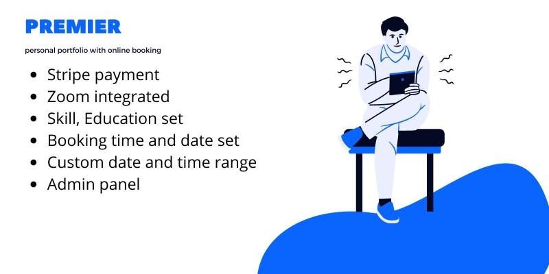 Premier - Personal Portfolio With Online Service