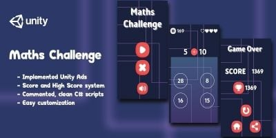 Maths Challenge - Complete Unity Game
