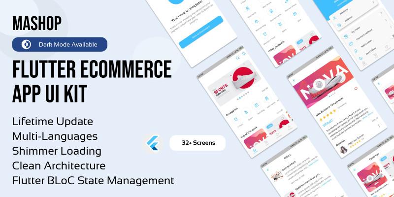 Flutter eCommerce UI Kit