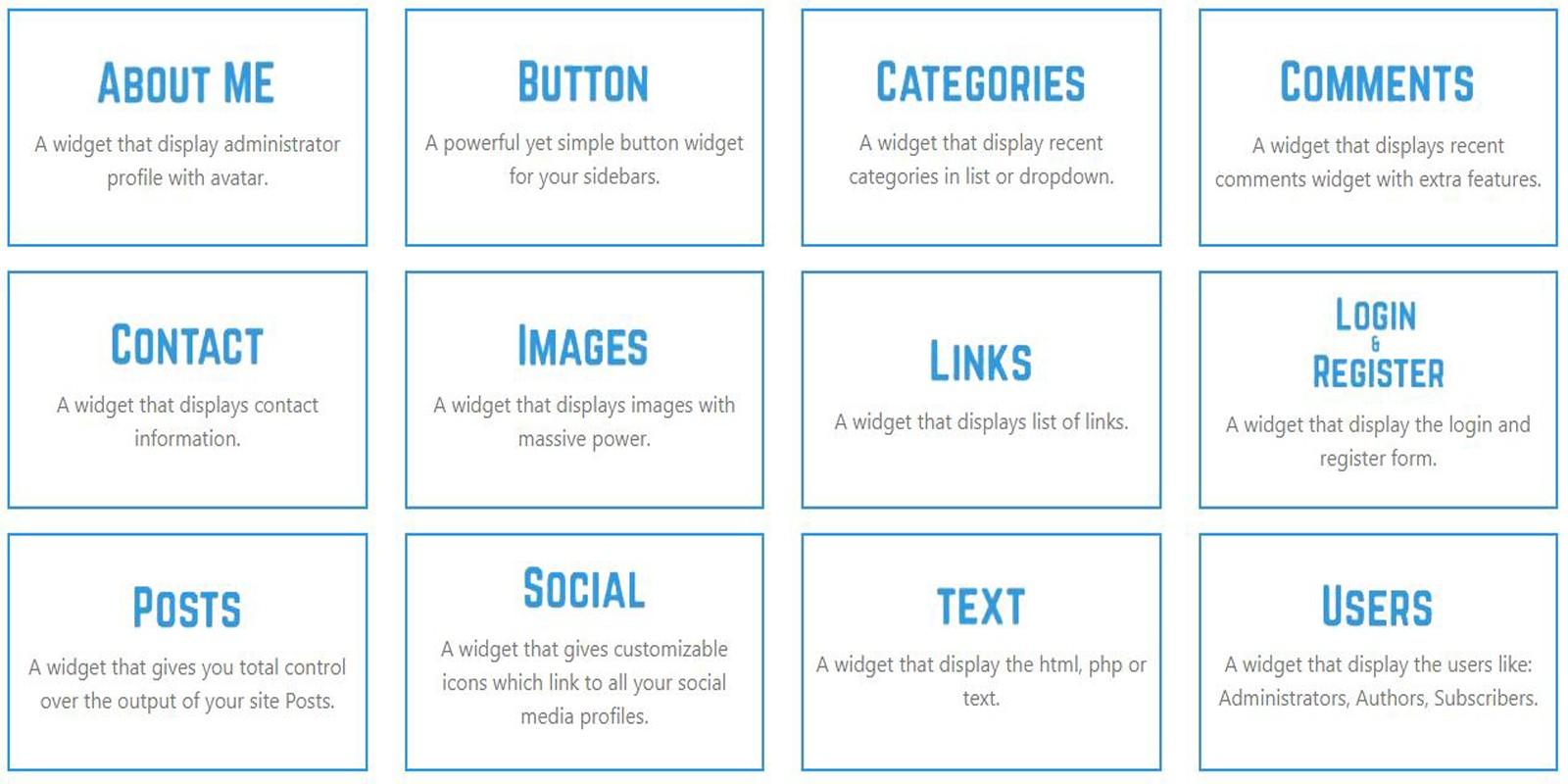 Widget Bundle For WordPress