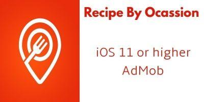 Recipe By Ocassion - iOS App Source Code