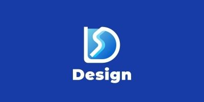 D Gradient Blue Logo